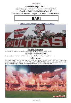 La sceda degli avversari: gli Ultras del Bari