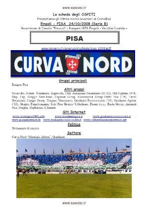La sceda degli Ultras del Pisa. Supplemento alla fanzine n. 189