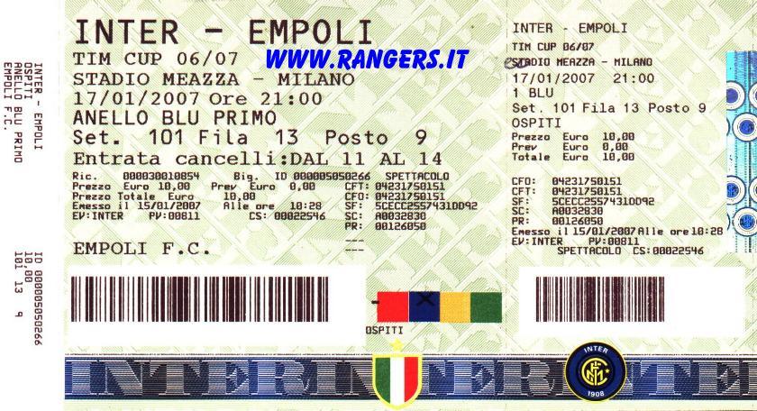 INTER : gli Ultras avversari - Rangers 1976 Empoli Ultras