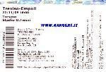 Il biglietto di Treviso - Empoli