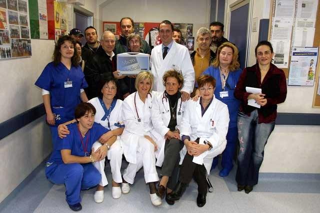 La donazione in memoria di Emiliano nel reparto di pediatria