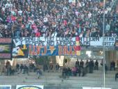 striscione Stregati Benevento in Benevento-Rimini