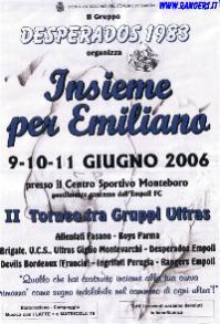 """Volantino del 2° raduno 2006 """"Insieme per Emiliano"""""""