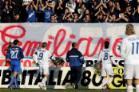 Empoli-Catania: Cappellini e Ficini depongono i fiori per Emiliano
