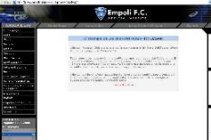 il sito dell'Empoli Calcio fc