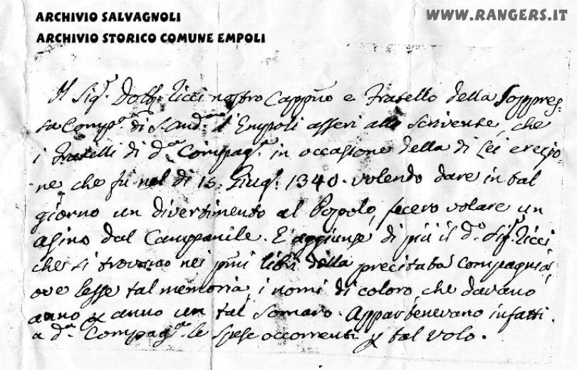 Il documento che data la prima edizione del volo almeno al 1340