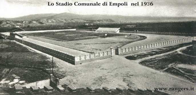 1935: Lo stadio Comunale di Empoli che era situato nella zona di Via Masini