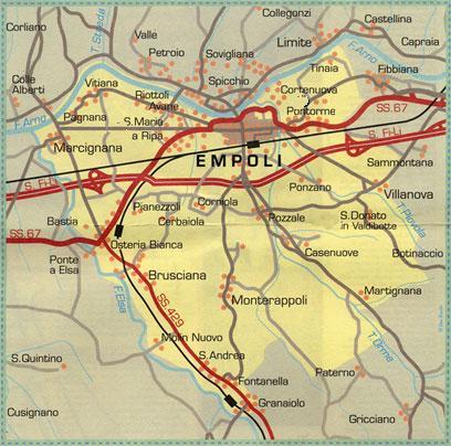 Il territorio di Empoli e le sue frazioni
