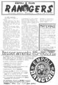 Il primo numero storico della fanzine Rangers: 1/12/1985