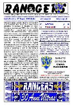 Leggi On Line la fanzine Rangers contro il Cagliari