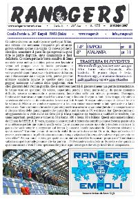 Leggi On Line la fanzine Rangers contro l'Atalanta