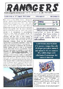 Leggi On Line la fanzine Rangers n. 194 contro l'Avellino