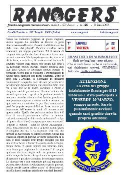 Leggi On Line la fanzine Rangers n. 195 contro il Vicenza