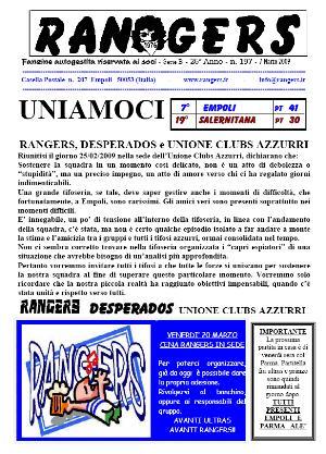 Leggi On Line la fanzine Rangers contro la Salernitana