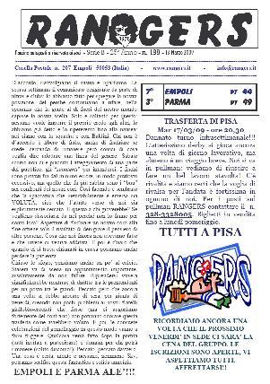 Leggi On Line la fanzine Rangers contro il Parma