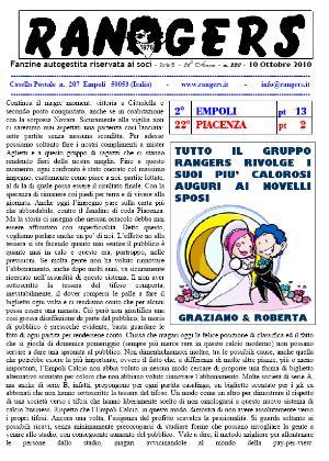Leggi On Line la fanzine Rangers n. 221 contro il Crotone del 30/10/2010