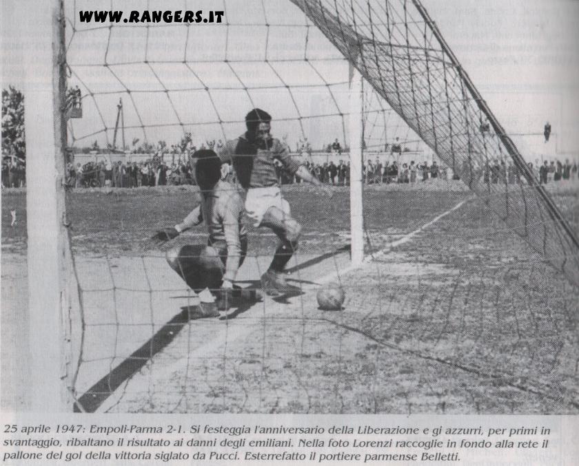 """Benito Lorenzi """"Veleno"""" in Empoli-Parma 1946-47"""