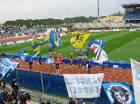 gemellaggio Empoli-Parma: sbandierata delle due tifoserie al Castellani 1