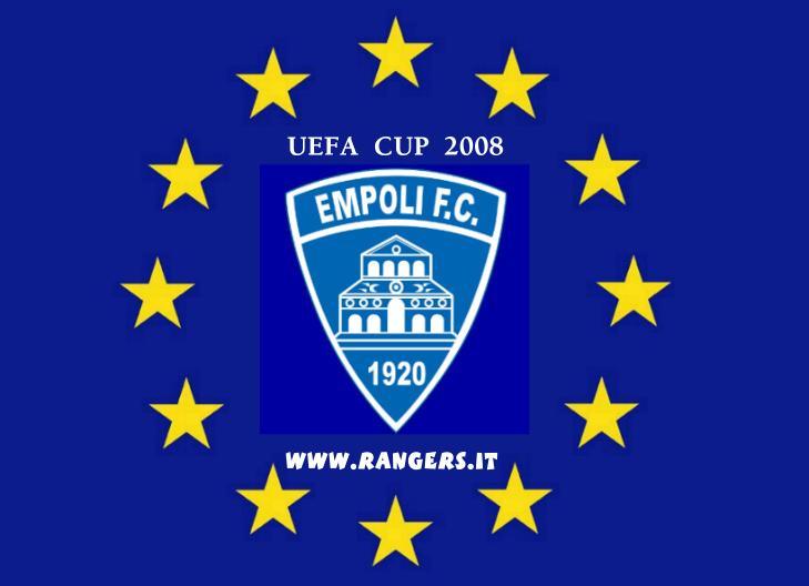 EMPOLI IN COPPA UEFA 2008: la prima immagine inserita come entrata sul sito Rangers immediatamente dopo la partita contro la Reggina
