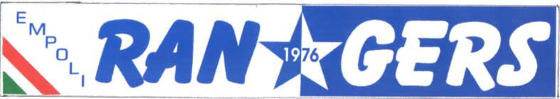 L'adesivo dello striscione Rangers