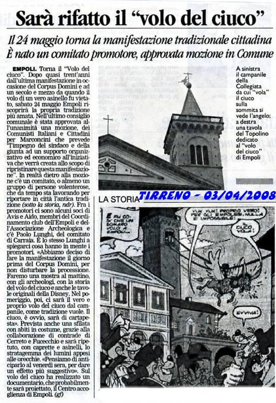 Il Tirreno conferma la notizia approvata anche in Consiglio Comunale